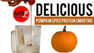 Delicious Muscle Recovery Pumpkin Spice Protein Smoothie | Protein Shake Recipe For Men And Women |