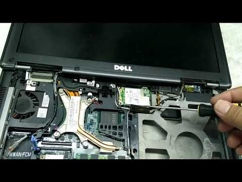 How to repair heatsink fan processor Dell Latitude D630 laptop