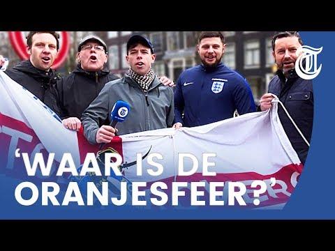 Engelse fans overspoelen Amsterdam