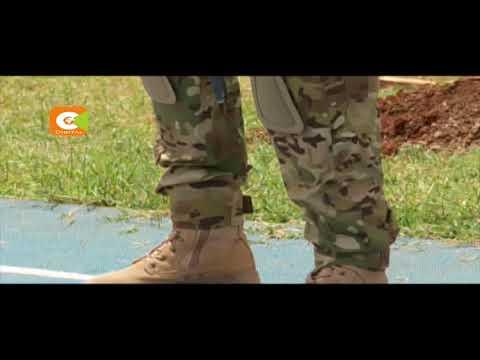 Military performs drills for Kenyatta inauguration