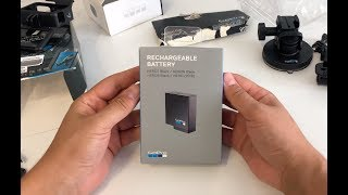GoPro Rechargeable Battery for HERO7 Black Unboxing in 4K