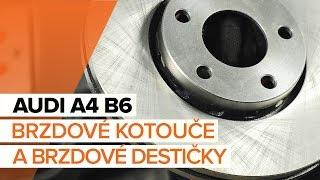 Jak vyměnit přední brzdové kotouče a přední brzdové destičky na AUDI A4 B6 [NÁVOD]