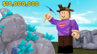 MINING $100,000,000 IN DIAMONDS! (ROBLOX MINING SIMULATOR)