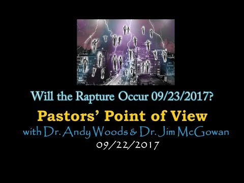 2017.09.22. Will the Rapture Occur 09/23/2017?