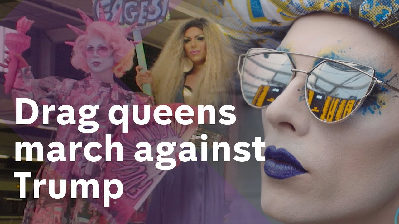 Drag Queens protest Donald Trump's UK visit
