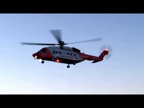 Irish Coastguard Rescue Helicopter, Rescue 116, Newry
