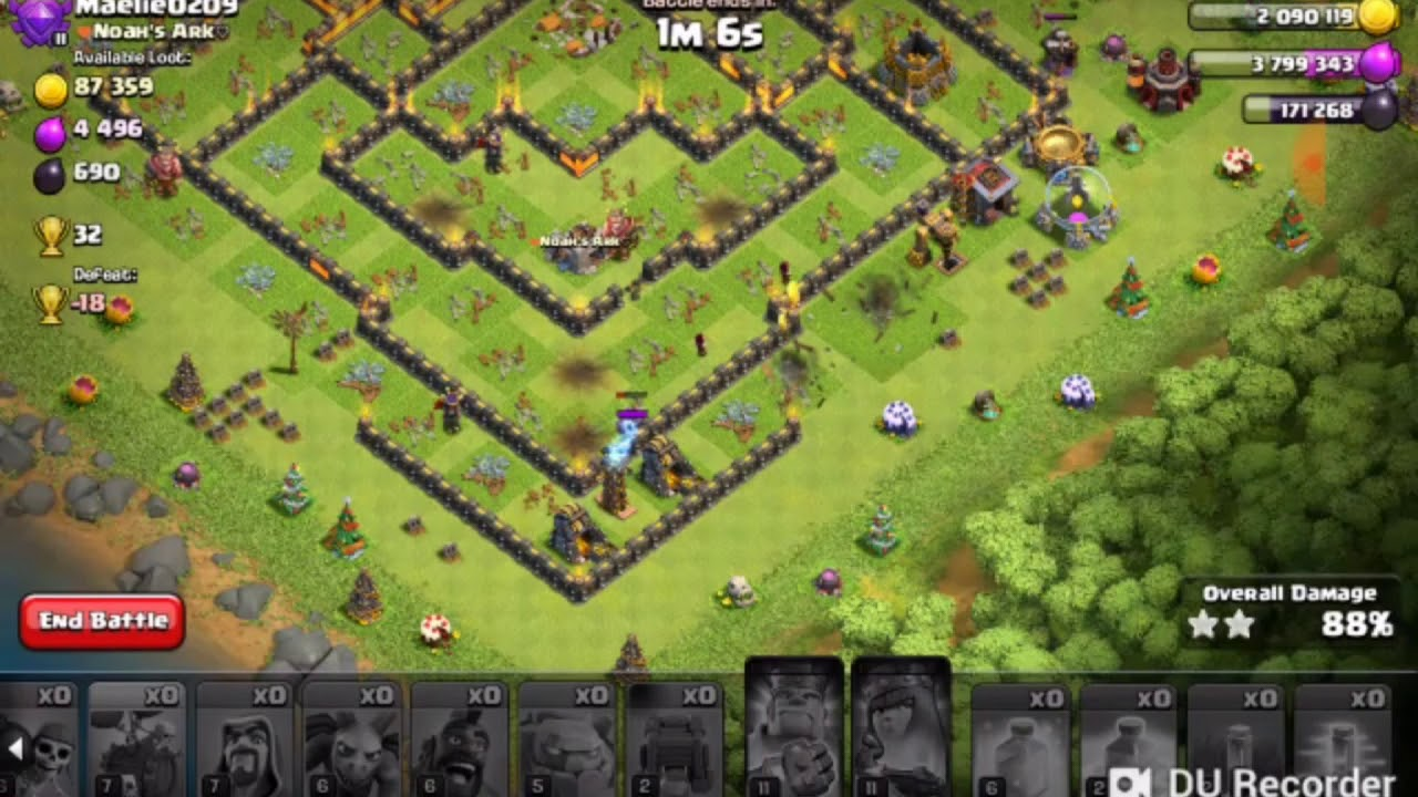 Hog heal attack (coc entertainment) - YouTube