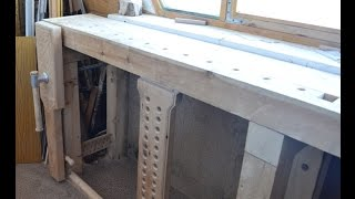 Столярный верстак. Carpentry bench(Обзор моего верстака. An overview of my workbench., 2015-03-23T00:47:03.000Z)