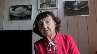 Bronka Sundstorm, recollections of the 88 old Holocaust  survivor