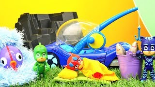 Spielzeugvideo für Kinder - PJ Masks Abenteuer - Der Zauberfisch