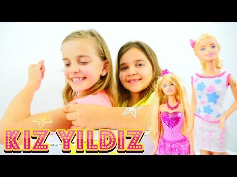 kız yıldız â   çocuk dövme oyunu. sema ve ayça barbie süslüyorlar