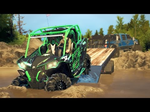 CAN-AM MAVERICK MUDDING & OFF-ROADING! 4x4 Hill Climbing & Mudding! (SpinTires Mods)