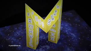 """Pop-Up Card Concept for the letter """"M"""""""
