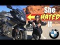 She HATED this motorcycle | BMW K1600 GTL