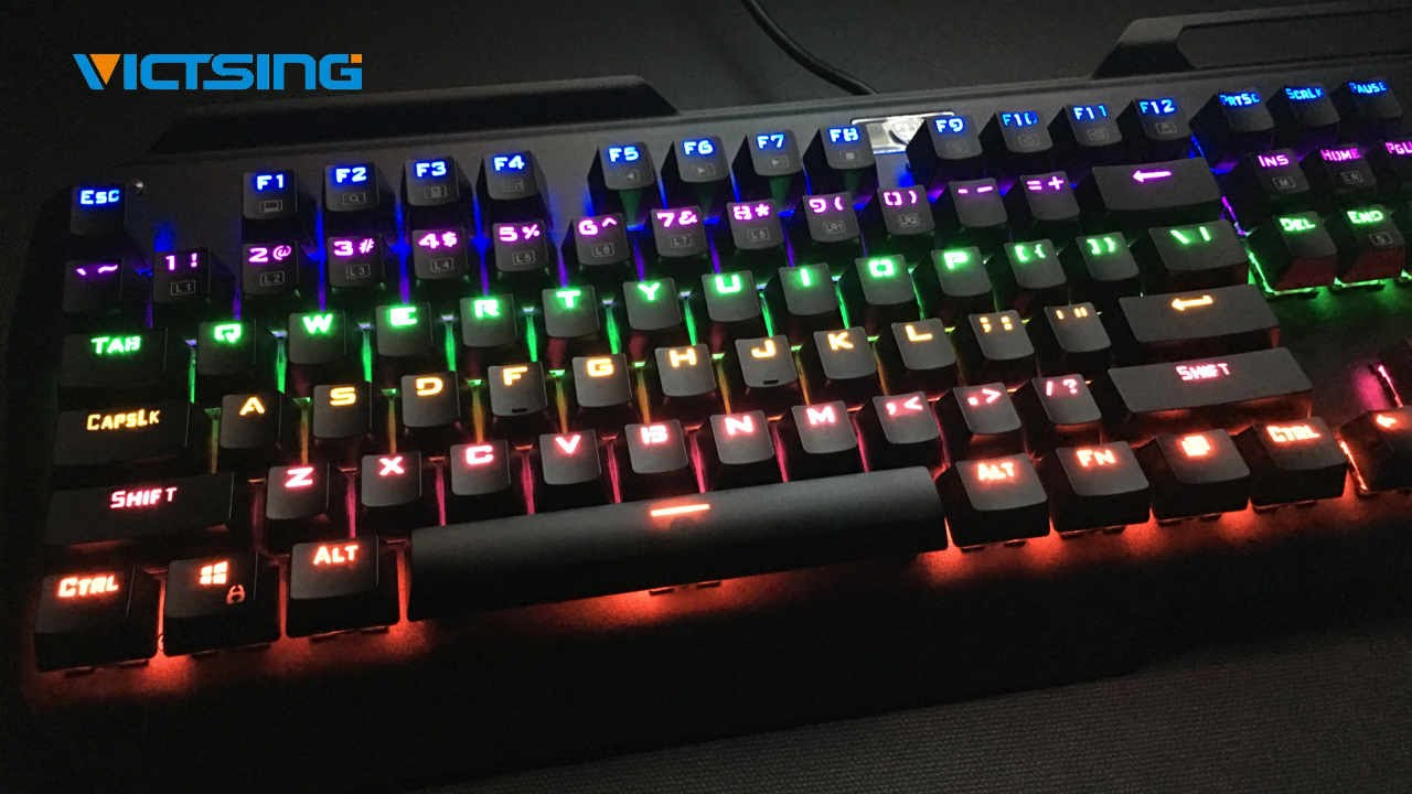 VicTsing Mechanical Gaming Keyboard with Multi-color Backlight REVIEW