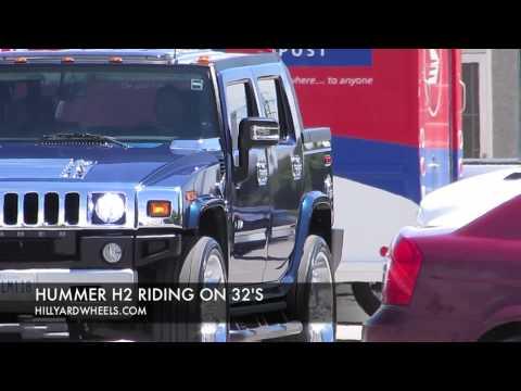 HILLYARD CUSTOM RIM&TIRE 2008 HUMMER H2 RIDING 32 INCH RIMS