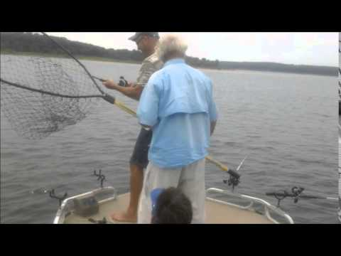 """Jason Nutter and Jon Dillon fishing with the """"Wiper Sniper"""" August 15th, 2014"""