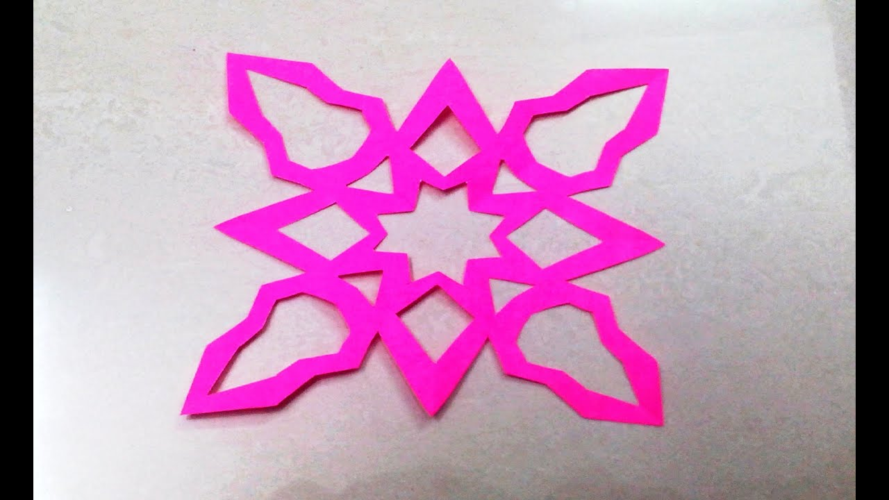 How to make kirigami paper cutting patterns and templates 3 youtube how to make kirigami paper cutting patterns and templates 3 maxwellsz