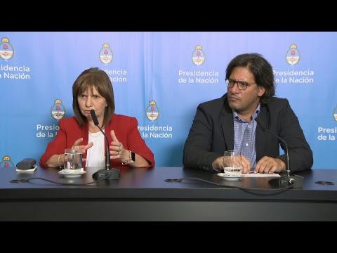 Declaraciones del presidente Mauricio Macri y los ministros Bullrich y Garavano