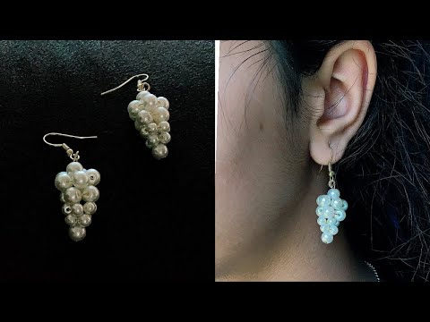 How To Make Simple And Beautiful Pearl Earrings At Home | DIY | Pearls Jewelry Making