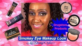Purple Smokey Eye Makeup Look – All Drugstore Products - WOC