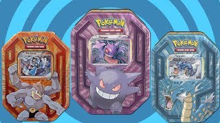 Opening 3 Tins of Pokemon Cards!