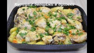 Курица с картошкой и майонезом в духовке