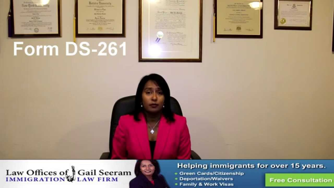 Ds 261 Choice Of Agent Immigration Attorney Gail Seeram Youtube