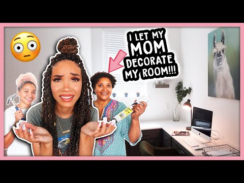 I Let My MOM Decorate My Room! | Office Makeover