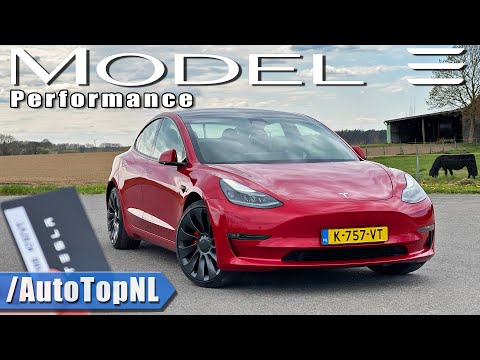2021 Tesla Model 3 Performance REVIEW on AUTOBAHN by AutoTopNL