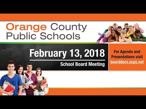OCPS | 2018-02-13 School Board Meeting