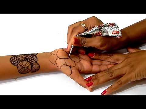 Mehndi for Rakhi - राखी पे मेहँदी लगाने का इससे आसान तरीका नहीं होगा   #EasyMehndi Design I