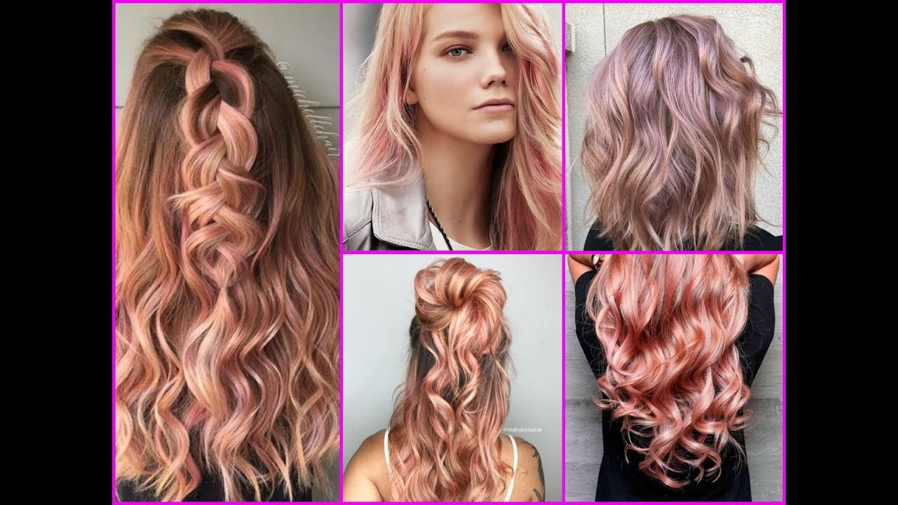 top-25 rose gold hair color