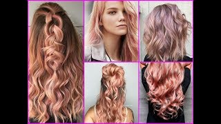 Top-25 Best Rose Gold Hair Color Ideas - Hairstyle Trends 2017