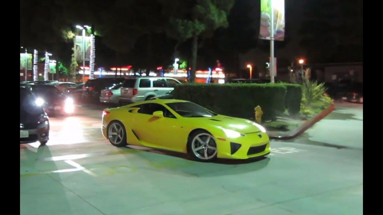Yellow Lexus LFA With Custom Wheels   YouTube