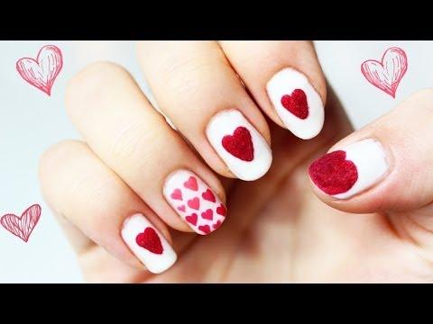 Wzorki Na Paznokcie Serce Na Dłoni W Walentynki Youtube