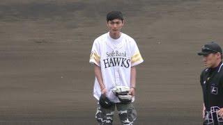 地元の熊本にて、念願のホークスでの始球式!練習の様子から。 お急ぎの...