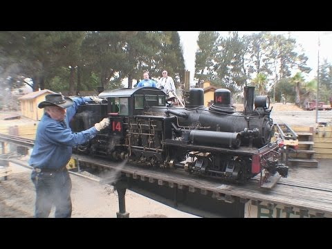 "2 1/2"" scale live steam shays West Side Lumber 14 and 15 double header"