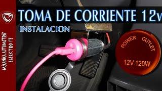 INSTALACION DE TOMA DE CORRIENTE DE 12v (detallado paso a paso)