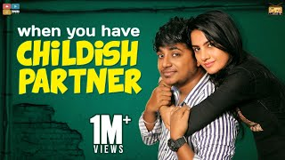 When You Have Childish Partner | StayHome Create Withme | Narikootam | Tamada Media