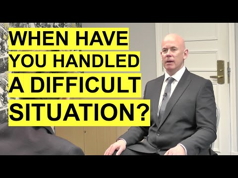 INTERVIEW QUESTION: Tell Me About A Time You Handled A Difficult Situation? (The BEST Answer!)