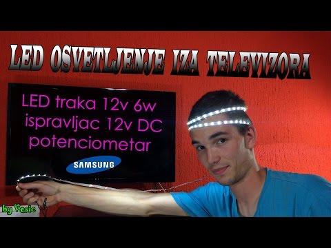 Postavljanje LED trake iza televizora