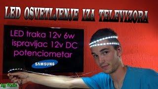 Postavljanje LED trake iza televizora thumbnail
