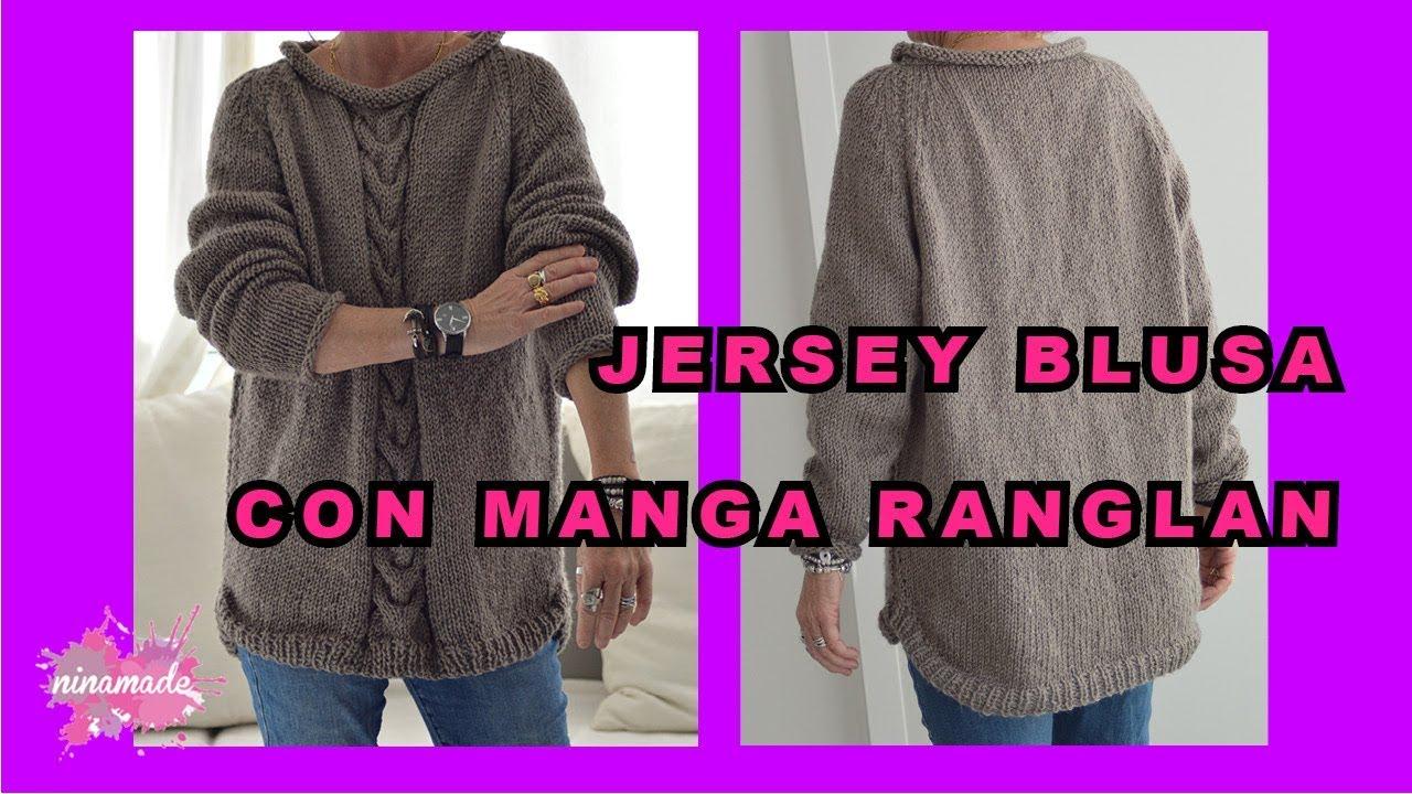 Diy Jersey Blusa Con Manga Ranglan Raglan Sweater Knitting Youtube