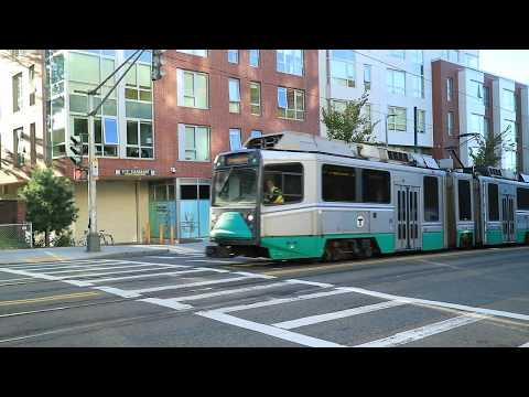 MBTA Streetcars On S. Huntington Ave., Boston, MA, 10/19/2019