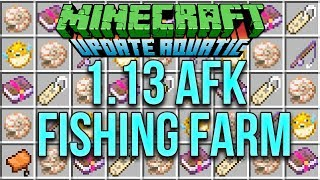 Minecraft 1.13 AFK Fishing Farm Tutorial For The Update Aquatic