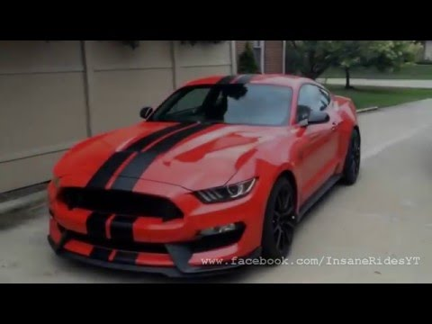 Ford mustang shelby gt350r 2016 startup amp revving mustang exhaust