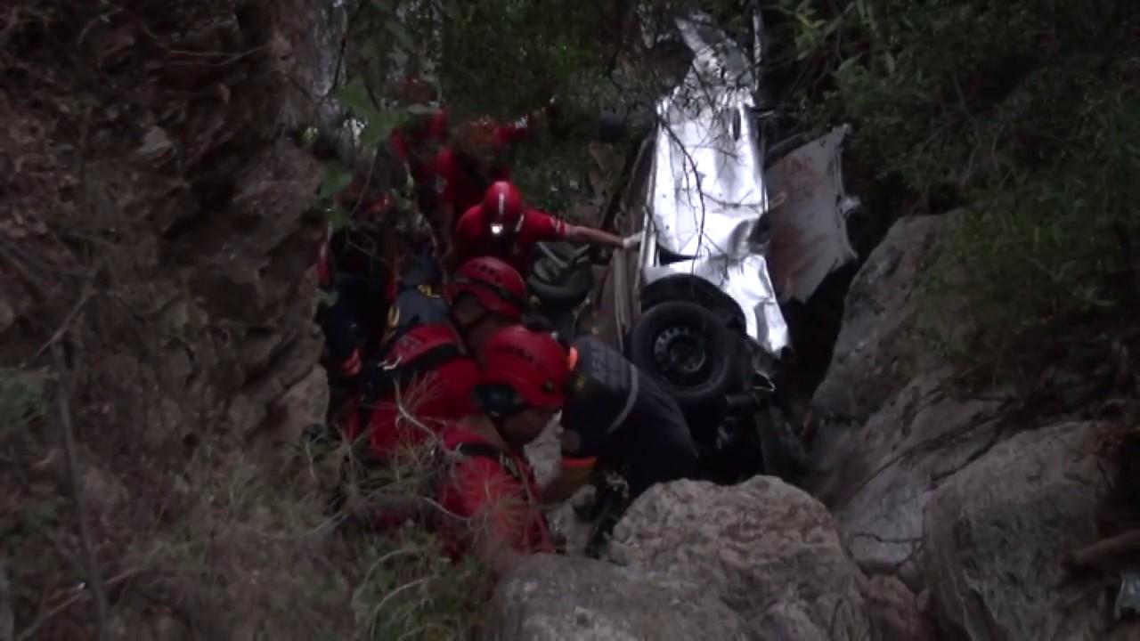 Ölüdeniz'de Araç Uçtu 1 ölü
