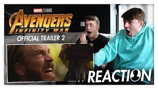 Avengers: Infinity War Official Trailer #2 REACTION // POPSIQL