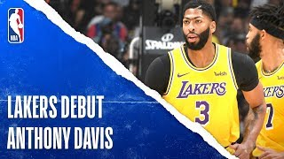 Anthony Davis Posts Double-Double In Lakers Debut | Oct. 22, 2019